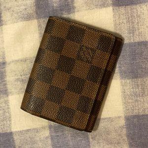 Authentic Louis Vuitton Damier Ebene Card Wallet